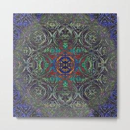 Ironwork Psychedelic Metal Print