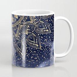 whimsical gold mandala confetti design Coffee Mug