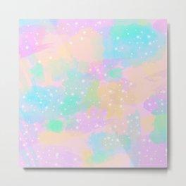 Colorful pastel pattern Metal Print