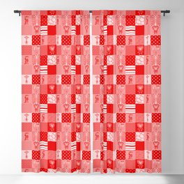 Jungle Friends Shades of Red Cheater Quilt Blackout Curtain