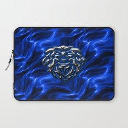 Lion Plasma Blue Laptop Sleeve