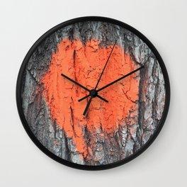 NVSV SPCS_orange blaze Wall Clock