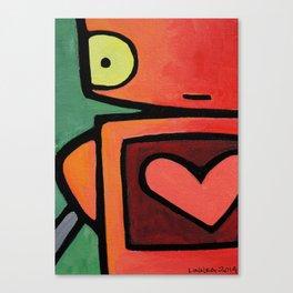 Robot - Heart Skips A Beat Canvas Print