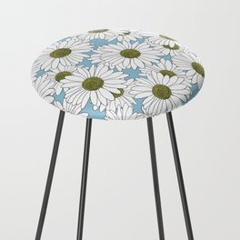 Daisy Blue Counter Stool