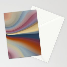 Colorful waves abstract pattern digital illustration  Stationery Cards