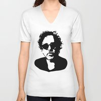 tim burton V-neck T-shirts featuring Tim by b & c