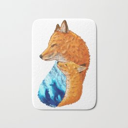 Serene Foxes Bath Mat