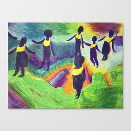 Ghana Dancers Canvas Print