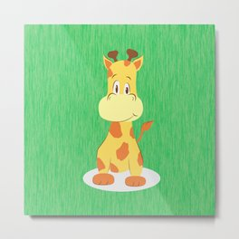 A happy giraffe Metal Print