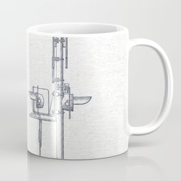 Railroad crossing watercolor Coffee Mug