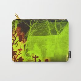 Spooky Halloween Pumpkin and Haunted Barn Carry-All Pouch