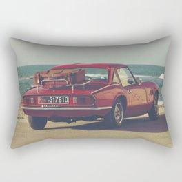 Red Supercar, classic car, triumph, spitfire, color photo, interior design, old car, auto Rectangular Pillow