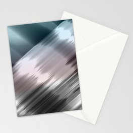 Abstract metallic print Stationery Cards