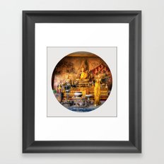 Big Buddha Shrine Pattaya (Circle) Framed Art Print
