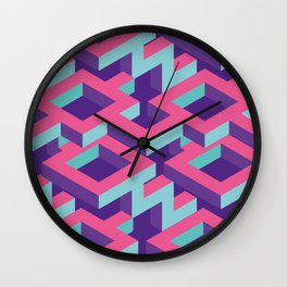 Isometric Cubical pattern Wall Clock