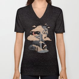 At the Foot of Fox Mountain... Unisex V-Neck