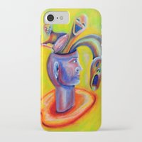 inner demons iPhone & iPod Cases featuring Inner Demons by Michael Anthony Alvarez