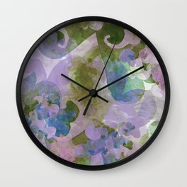 Water Color - hand-painted Heart-Whales - 02 multi-color pattern Wall Clock