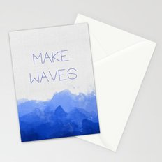 Make Waves  Stationery Cards
