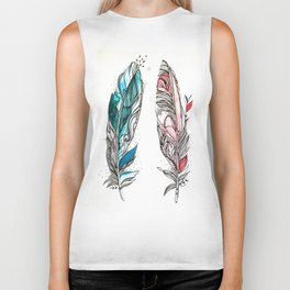 You & Me Feathers Biker Tank