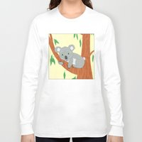 koala Long Sleeve T-shirts featuring Koala by Claire Lordon
