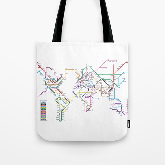 World Metro Subway Map Tote Bag