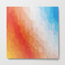 Square Color Space Metal Print