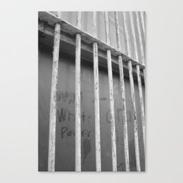 dusty window graffiti Canvas Print