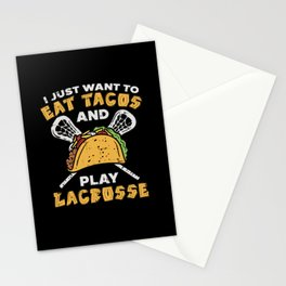 Eat Tacos And Play Lacrosse - Gift Stationery Cards