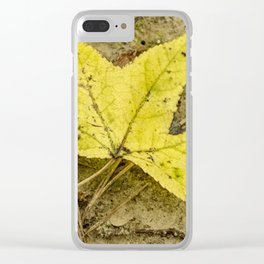 The Yellow Leaf Clear iPhone Case