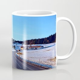 Country road through winter wonderland III | landscape photography Coffee Mug