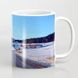 Country road through winter wonderland III | landscape photography Coffee Mug