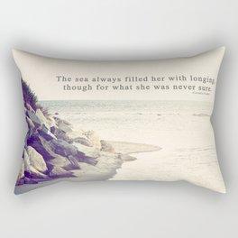 Filled with Longing Rectangular Pillow