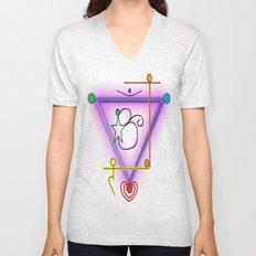 All Chakra Symbol Unisex V-Neck
