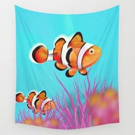 Clown Fish Aquarium Wall Tapestry