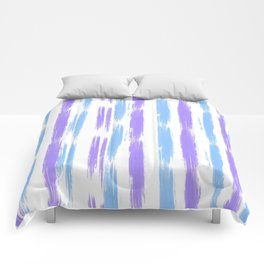 Blue and Purple Oil Stripes Pattern Comforters