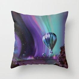 NASA Retro Space Travel Poster #7 Juniper Throw Pillow