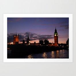 London at Night Art Print