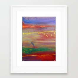Edge Of The Storm Framed Art Print