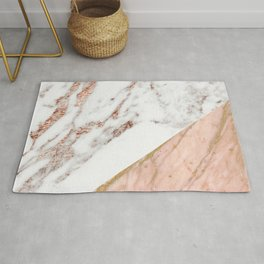 Marble rose gold blended Rug