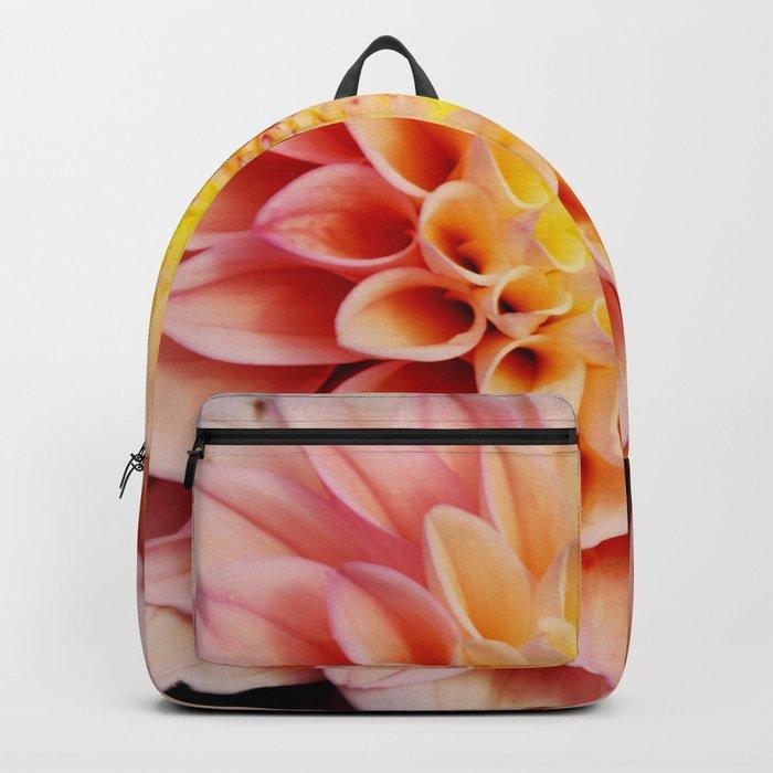 Light pink Dahlia #3 Backpack
