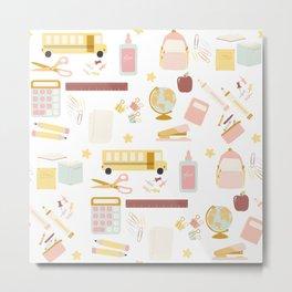 Teacher Essentials Pattern 1 Metal Print