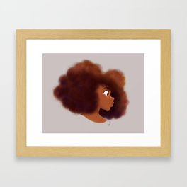 Afro Profile Framed Art Print