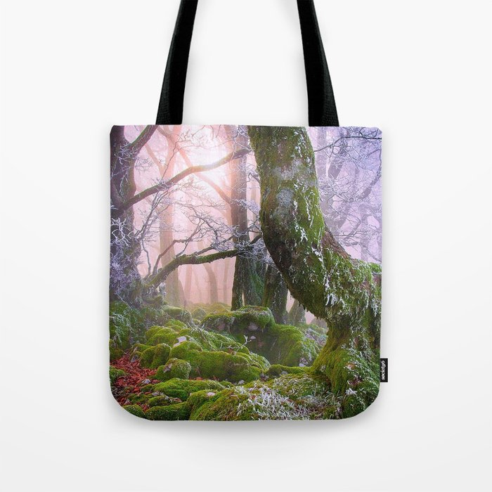Fantasy Forest #frost Tote Bag