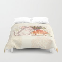 Thumbelina and the Mouse! Duvet Cover