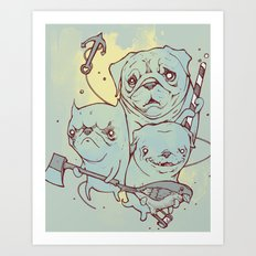 Sea Dogs Art Print