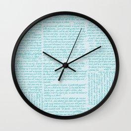 Desiderata in handwriting Wall Clock