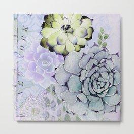 Pekinese Garden Metal Print