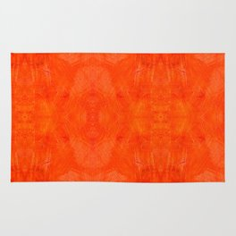 Aztec in orange Rug