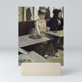 The Absinthe Drinker by Edgar Degas Mini Art Print